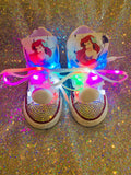 Girls Bling Converse Sneakers (Ariel the Little Mermiad)