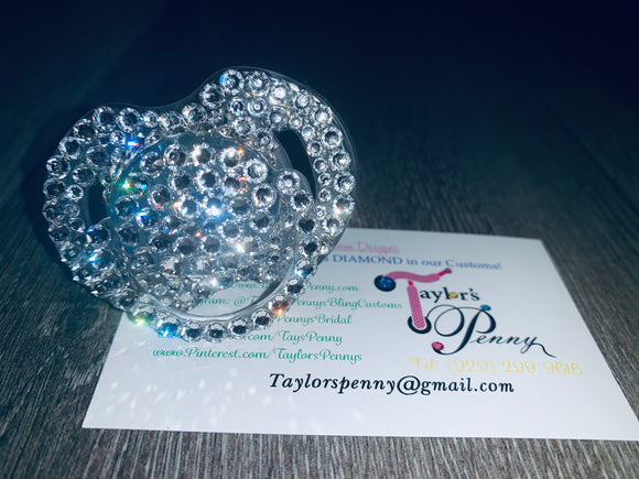 Baby Bling Embellished Pacifier (Crystal)