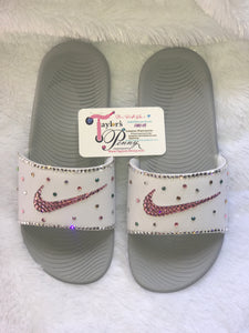 Bling Nike Slides (Miami Vice)