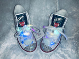 Girls Bling Converse (Patriots) Sneakers