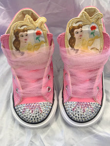 Bling Converse for Girls Belle/ BEAUTY & THE BEAST