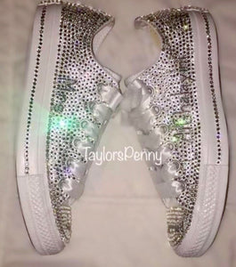 Womens Bling Converse Embellished & Personalized