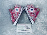 Baby Bling Converse w/ Pearls & Pink Swarovski Stones CC inspired