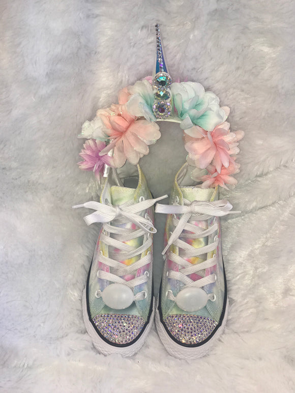 Unicorn Bling Converse & Lightup Headband