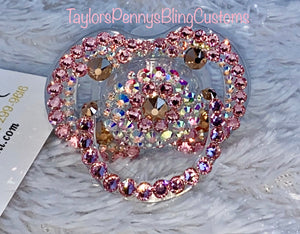 Baby Bling Embellished Pacifier (RoseGold &Pink)