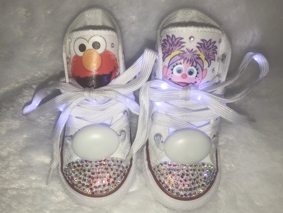 Bling Converse for Girls/ Sesame Street Elmo & Abby