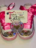 Bling Girls Converse Minnie Mouse with Bling Pacifier