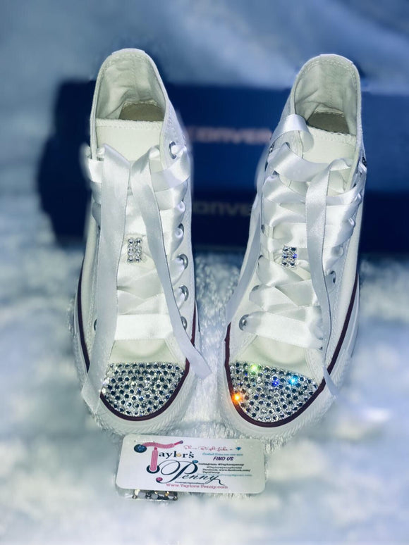 Women's Bling Sneakers (Brides Initials)