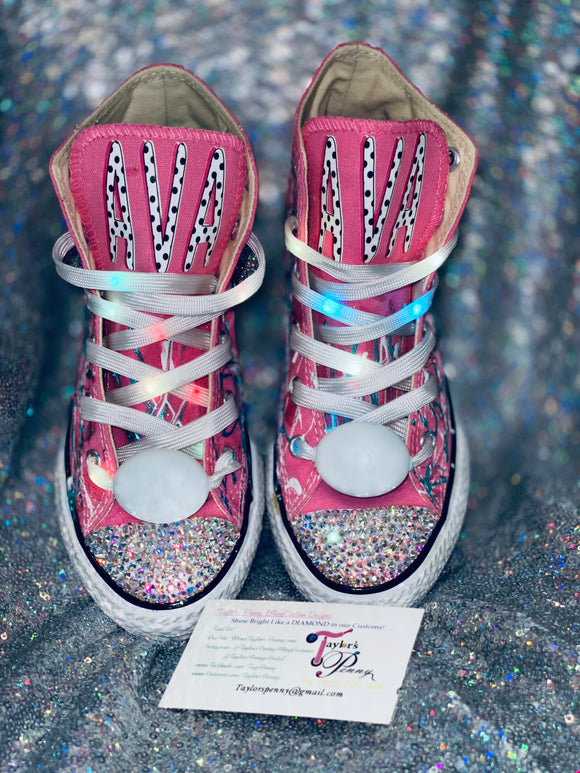 Girls Bling Converse (LOL Surprise) Sneakers Painted