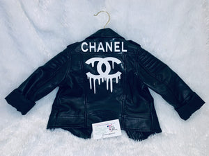 Custom Kids Black Jacket designer Inspired CC