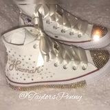 Womens Bling Converse for Bat Mitzvahs