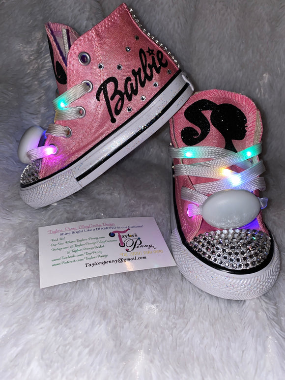 Bling Converse for Girls/ Barbie Chanel Inspired
