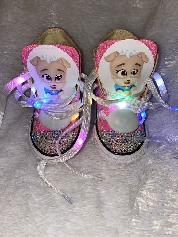 Girls Bling Converse (Puppy Dog Pals) Keia Sneakers Painted