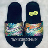 Womens Bling NikeSlides (Painted)