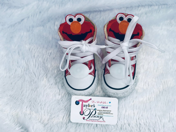 Girl's Bling Sneakers Elmo Inspired