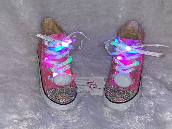Bling Sparkly Light Up Converse Sneakers