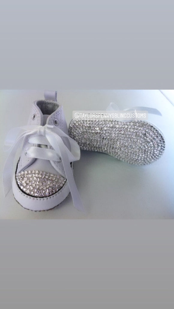 Baby Bling Fashion Sneakers Converse (Christenings/Baptism)