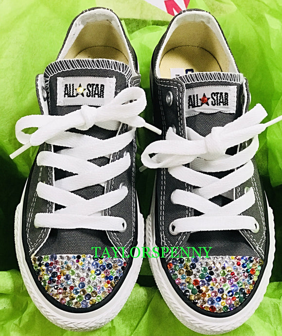 Girls Bling Converse (RainBow)