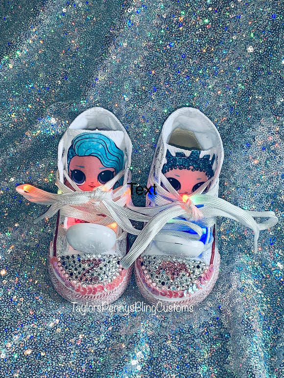 Girls Bling Converse (LOL Surprise) Sneakers White