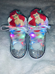 Girls Bling Converse for Girls Little Mermaid Inspired