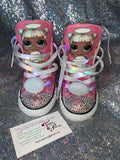 Girls Bling Converse (LOL Surprise) Sneakers Painted Sugar Angel LOL