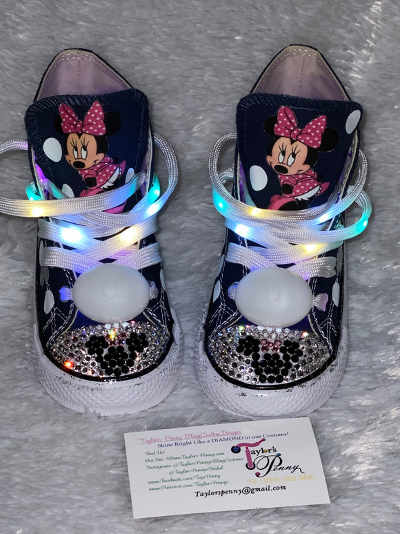 Bling Converse for Girls/ Minnie Mouse