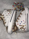 Baby Bling Converse in Rainbow w/ Bling Pacifier
