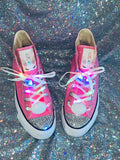 Unicorn Girls Bling Converse Sneakers Light Up