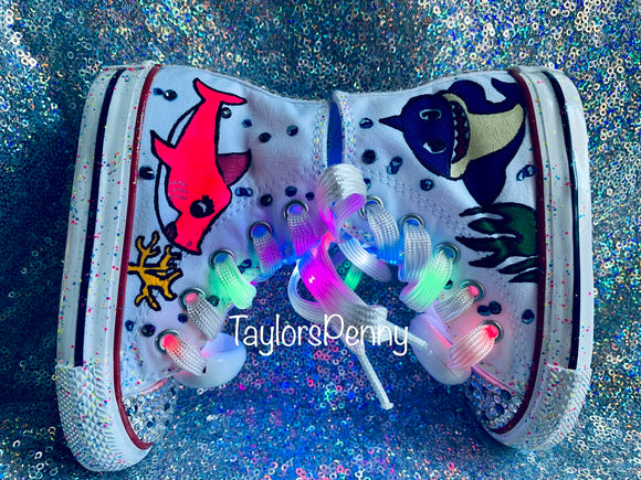 Baby Shark Bling & Painted Sneakers