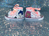 Bubble Guppie Girls Bling & Painted Sneakers