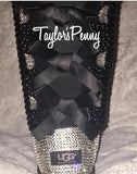 Bling Uggs - Baily Bow Black Hi Top