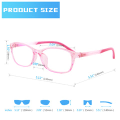 Mind BridgeBigger Kids and Teens Computer Glasses (Pink) - CrystalHill