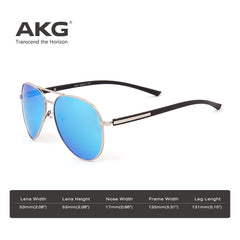 AKGAviator Mirror Polarized Sunglasses 1621 - CrystalHill