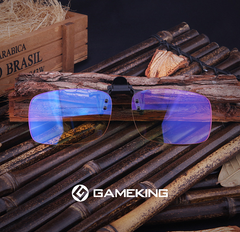 GAMEKINGClassic Clip-On Computer Glasses - CrystalHill