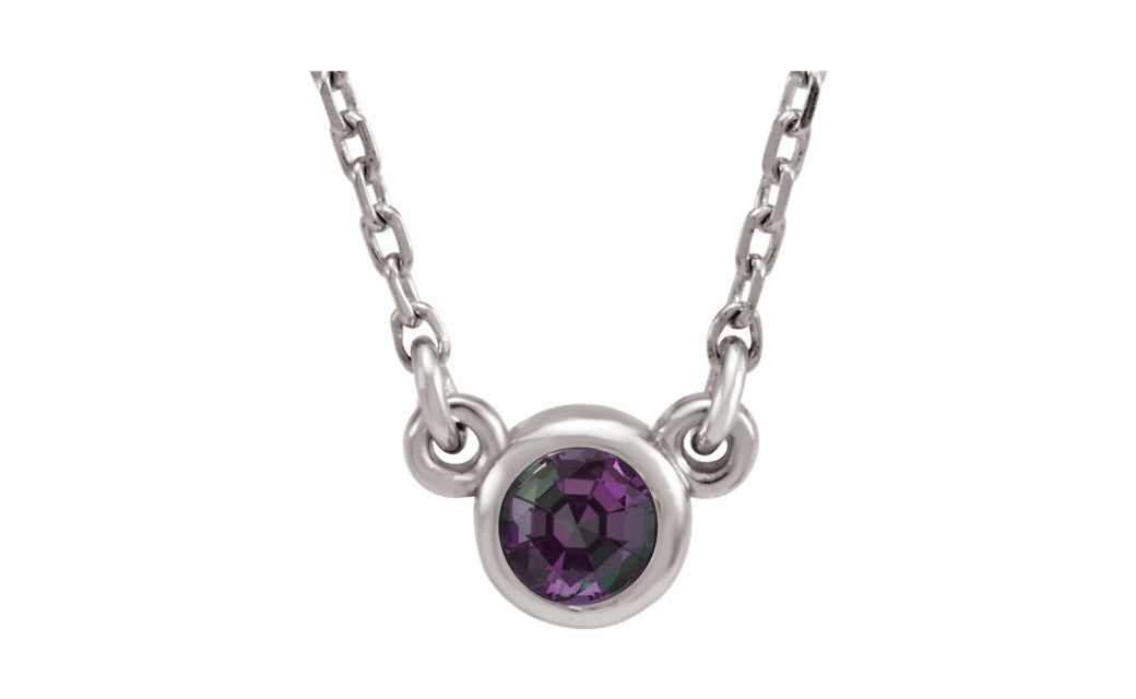 Sterling Silver Imitation Gemstone 16