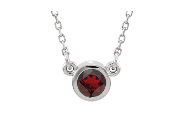 "Sterling Silver Imitation Gemstone 16"" Necklace"