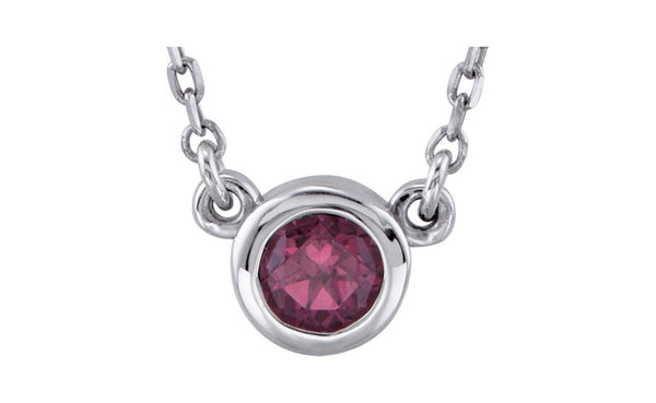 Sterling Silver Bezel Necklace
