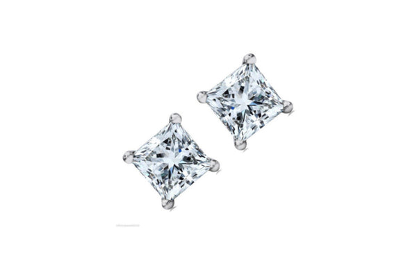 Buy One Get One Free 14k White Gold Round Black Cz Earring.