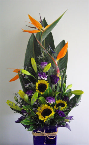 Arrangement of Birds of Paradise
