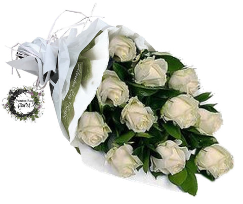 1 Dozen Long Stemmed White Roses