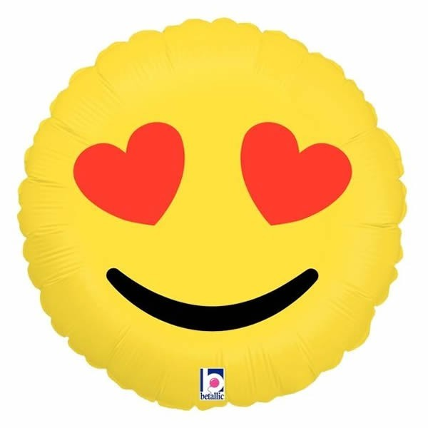 Emoji Heart Eyes Balloon 10cm