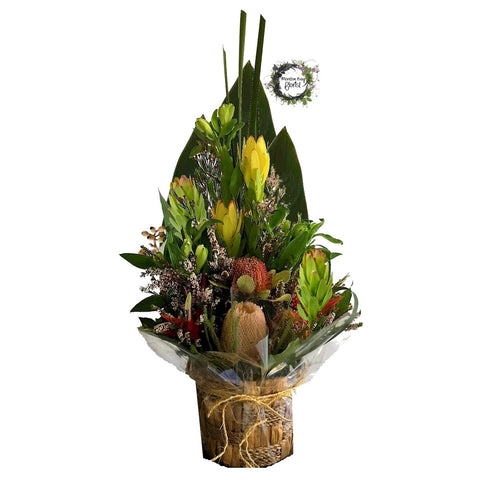 Native Flower Arrangement in Basket