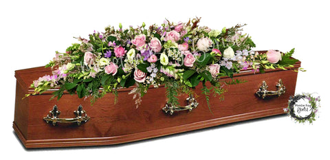 Luxury Casket Flowers Brisbane Pastel Colours