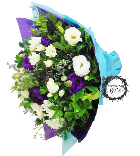 Blue and White Flower Bouquet