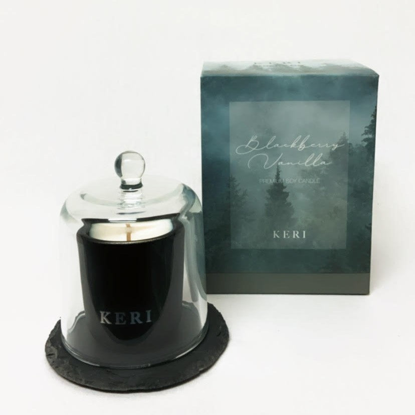 Blackberry Vanilla Soy Small Candle Glass Set