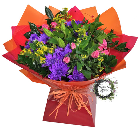 Colourful bouquet for delivery