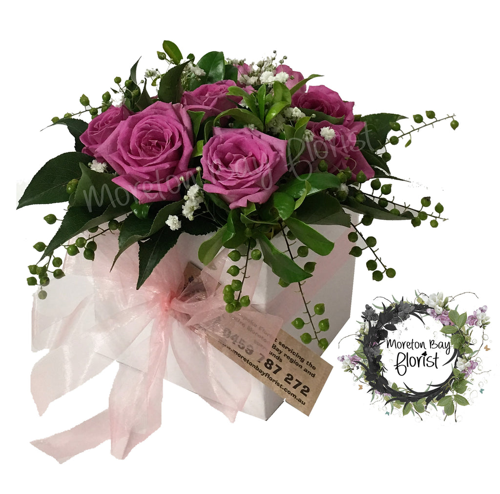 Rose posy box arrangement