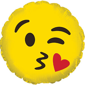 Emoji Kissing  Balloon 10cm
