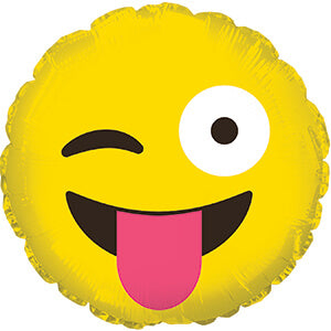 Emoji Smiling Tongue Balloon 10cm