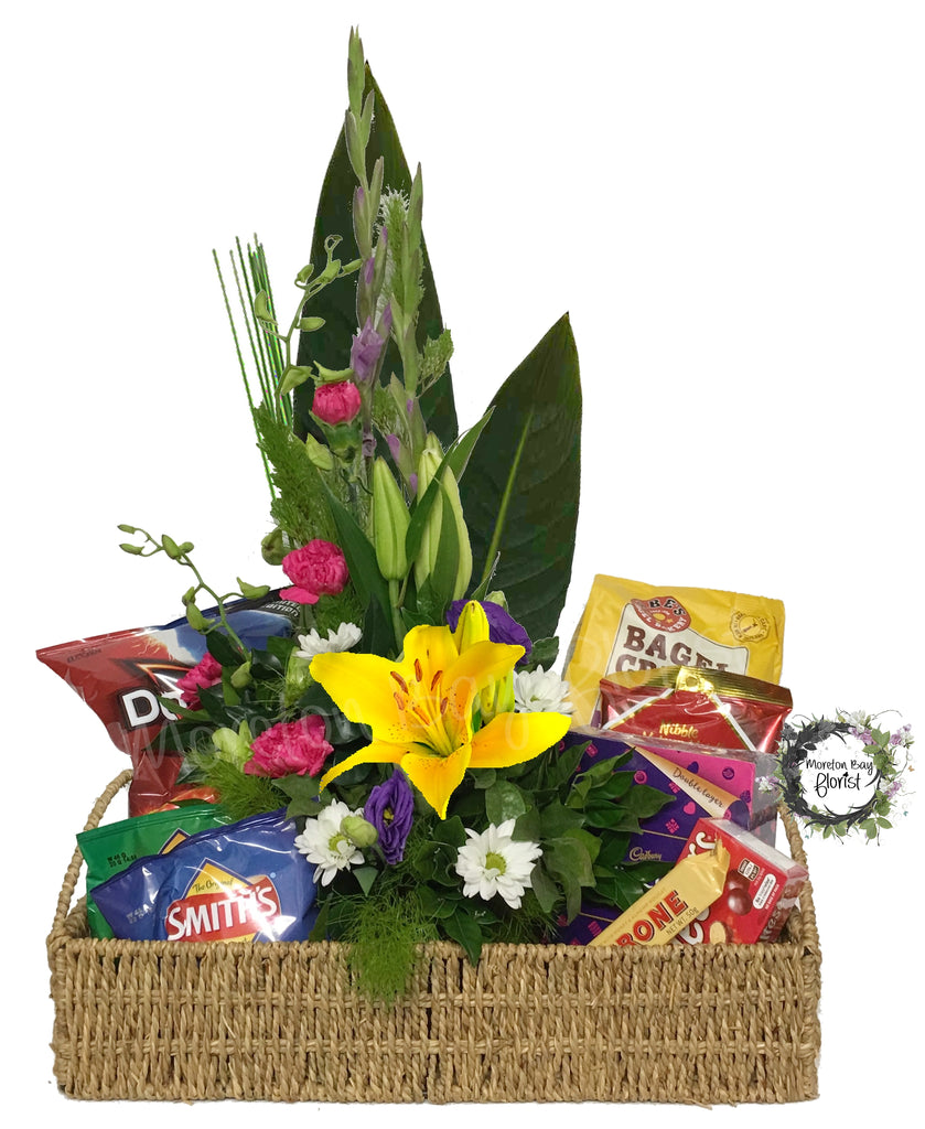 Flowers and Nibbles Basket